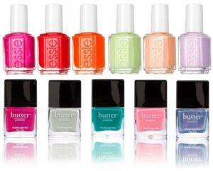 A variety of nail polish
