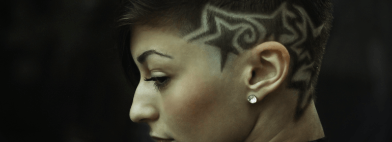 Woman with beautiful undercut